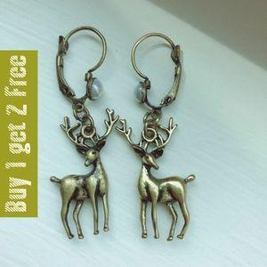 Deer bronze color earrings ear132820